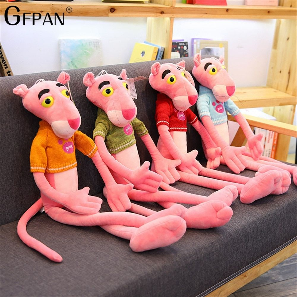 Brand New 1.1/1.3m Giant New Hot Pink Panther Plush Toys Leopard Jaguar Children Dolls Christmas Presents Baby Kid Birthday Gift