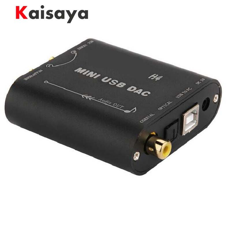 H4 Mini HIFI 24Bit 192Khz Coaxial Optical USB Input DAC Headphone Out Power amplifier Audio decoder