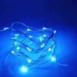 1-10 м медный провод светодиодный гирлянда Ночные Огни праздничного освещения для гирлянды сказочная Рождественская елка украшение для свад...