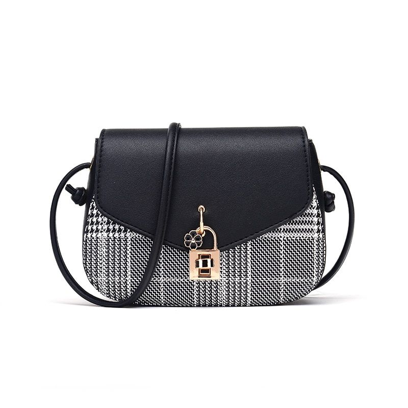 Women's Shoulder Bag PU Handbag Lattice Latch Cross Bag 2018 New Products Hot Selling For Young Women To Deliver Quickly