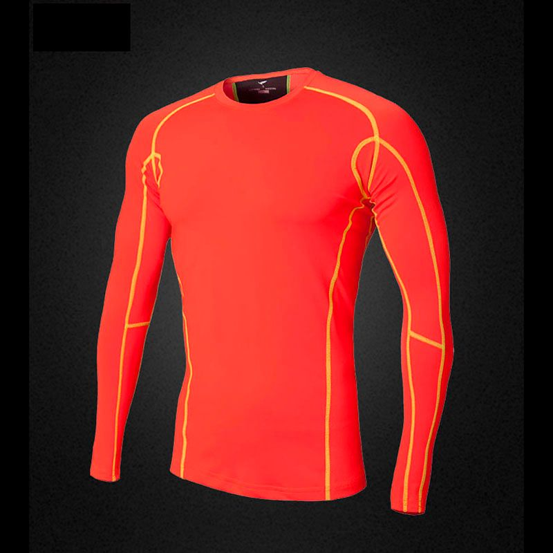 2017 Time-limited New Brand Mens Compression Under Base Layer Tops Tight Long Sleeve Running T-shirts Sport Jersey Jjs16-6024