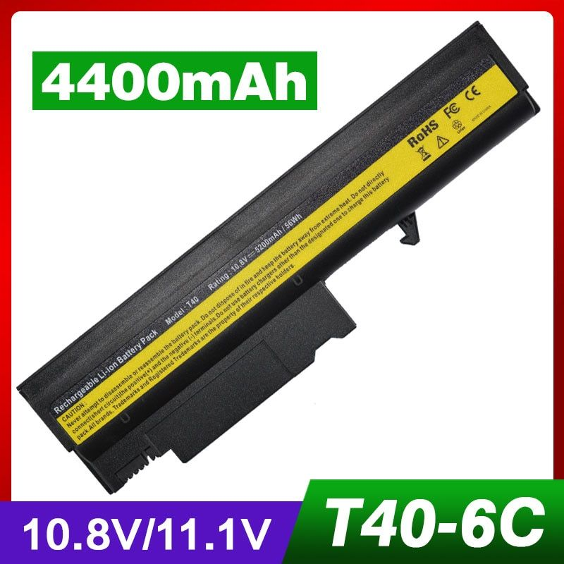 4400MAH battery for ibm ThinkPad R50 R50E R50P R51 R51e R52 T40 T40P T41 T41P T42 T42P T43 T43P 08K8194 92P1010 92P1011 92P1058