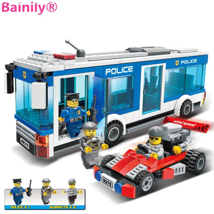 [Bainily]256Pcs Police Station Building Blocks Bricks Educational Toys Birthday Gift Toy For boy Compatible with LegoINGlys city