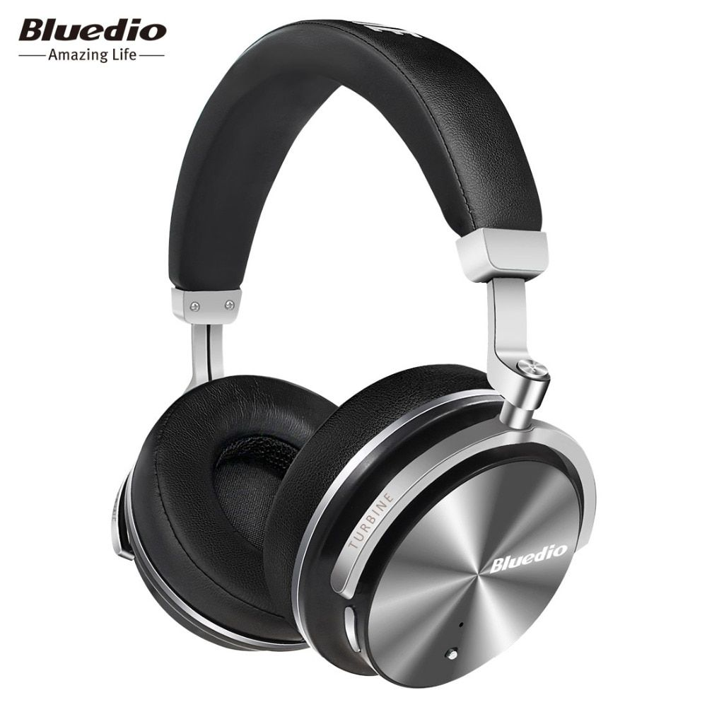 Bluedio T4S Active Noise Cancelling Wireless Bluetooth Headphones ANC Edition Headset 3D Sound Around The Ear For Android IOS
