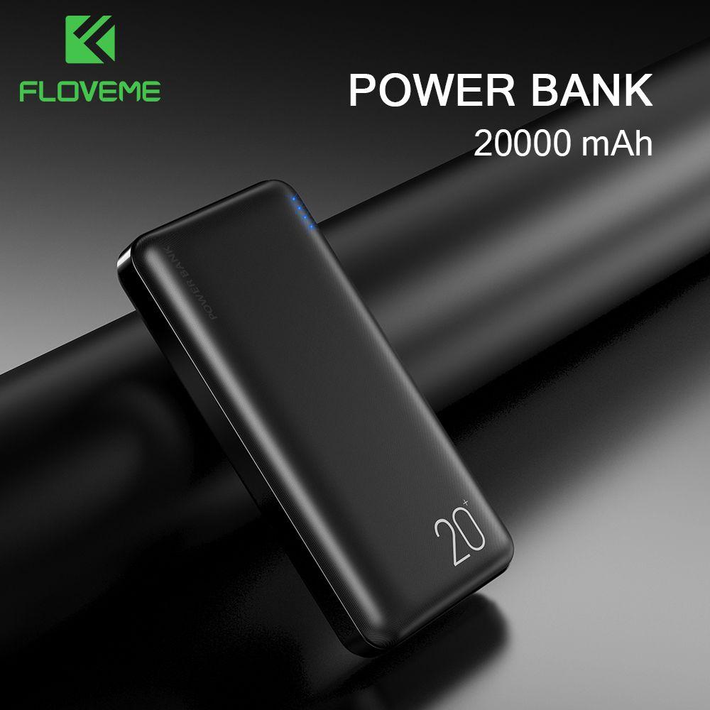 Batterie externe FLOVEME 20000mAh pour chargeur Portable iPhone double sortie USB Powerbank 10000mAh batterie externe