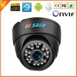 BESDER широкоугольная ip-камера Внутренняя купольная камера безопасности 1080 P FULL HD ip-камера IR Cut фильтр 24 IR светодиодный ONVIF Обнаружение движения...