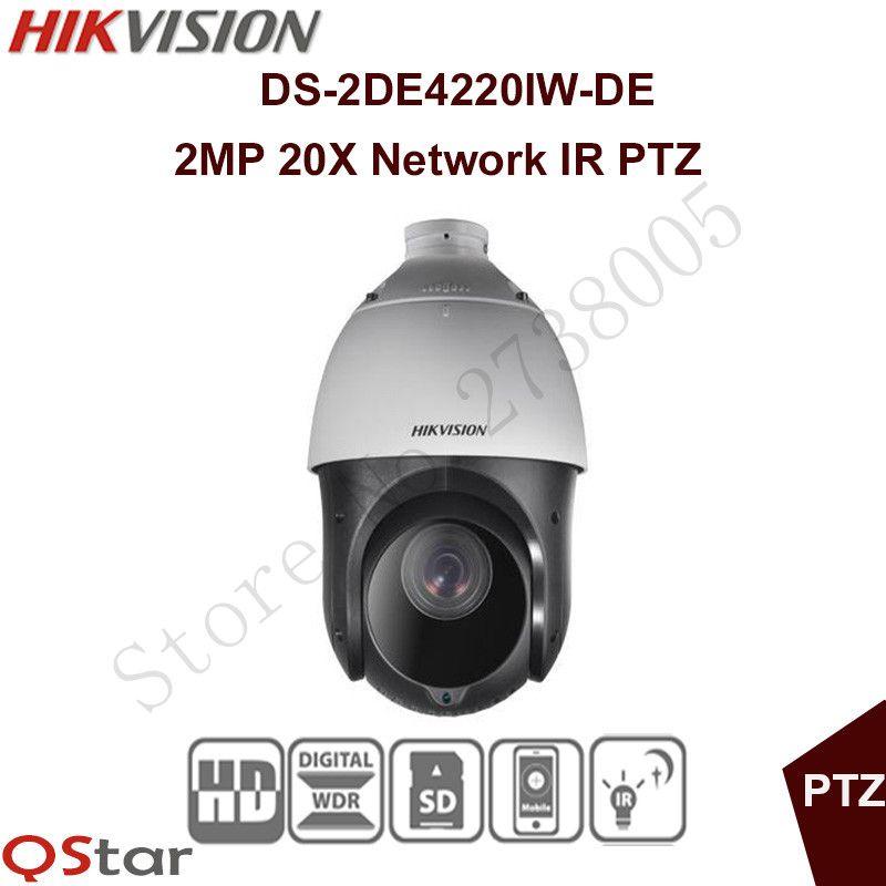 Auf lager Hikvision Englische Original 2MP PTZ DS-2DE4220IW-DE PTZ ip-kamera CCTV überwachungs POE ONVIF POE Cctv-kamera