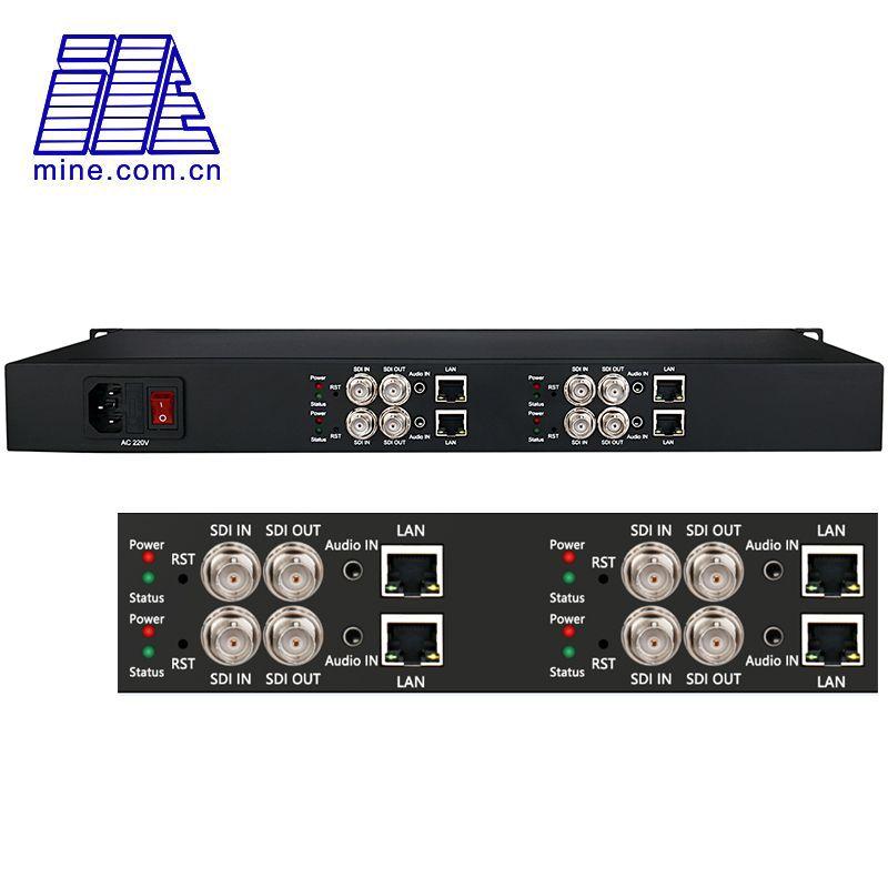 4 Channel SDI to IP Encoder H.265 / H.264 HD-SDI 3G-SDI Video Streaming Encoder for Live Broadcast