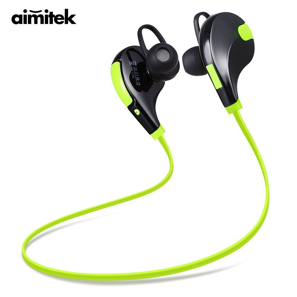 Aimitek Bluetooth écouteurs sport casques rse casque sans fil stéréo mains libres écouteurs avec micro pour iPhone Smartphones