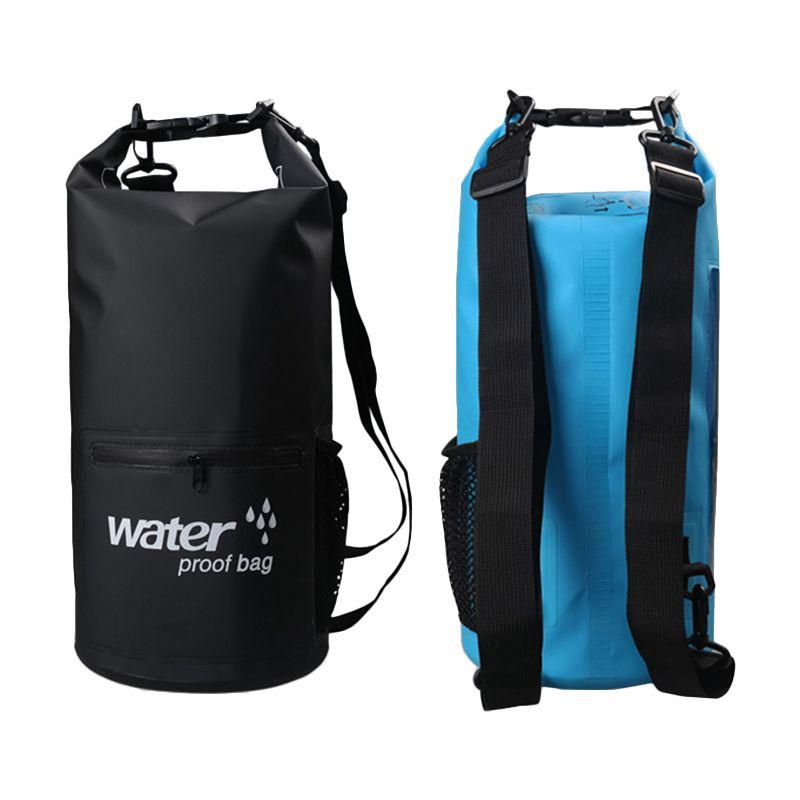10L 20L sac de trekking de rivière en plein air Double bandoulière natation sacs imperméables ultralégers organisateurs secs à la dérive kayak