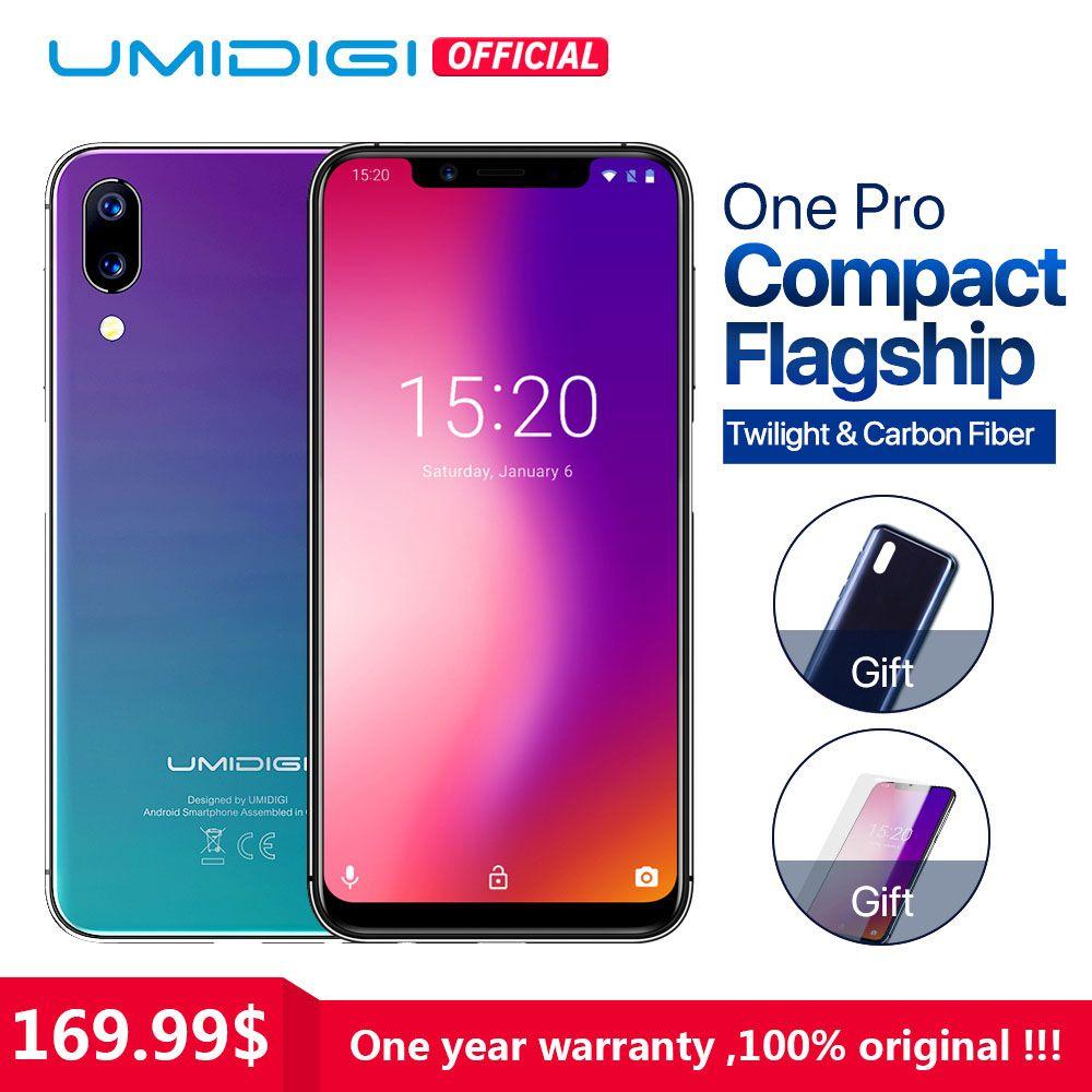 UMIDIGI Un Pro Groupe Mondial 5.9 Android 8.1 mobile téléphone sans fil charge 4 gb 64 gb P23 Octa Core smartphone 12MP + 5MP Double 4g NFC