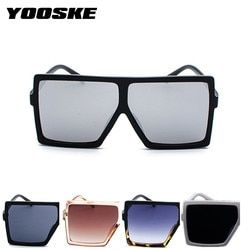 YOOSKE Oversized Sunglasses Men Women Vintage Big Frame Sun Glasses Female Male Black Eyewear UV400