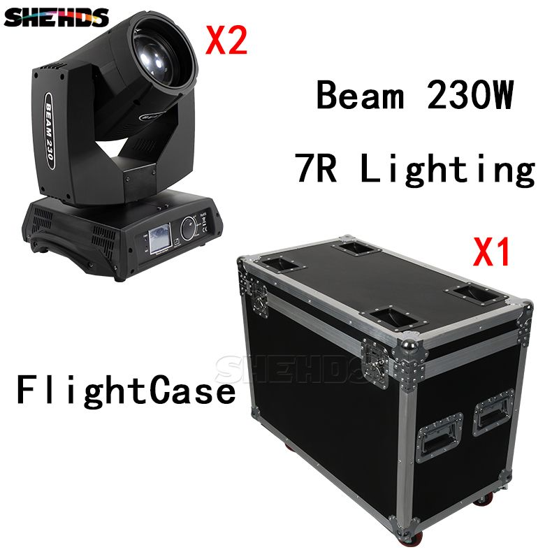 FlightCase With 2PCS Beam 230W 7R DMX512 Stage Effect Lighting Good For DJ Disco Party Dance Floor Wedding Decoration And Bar