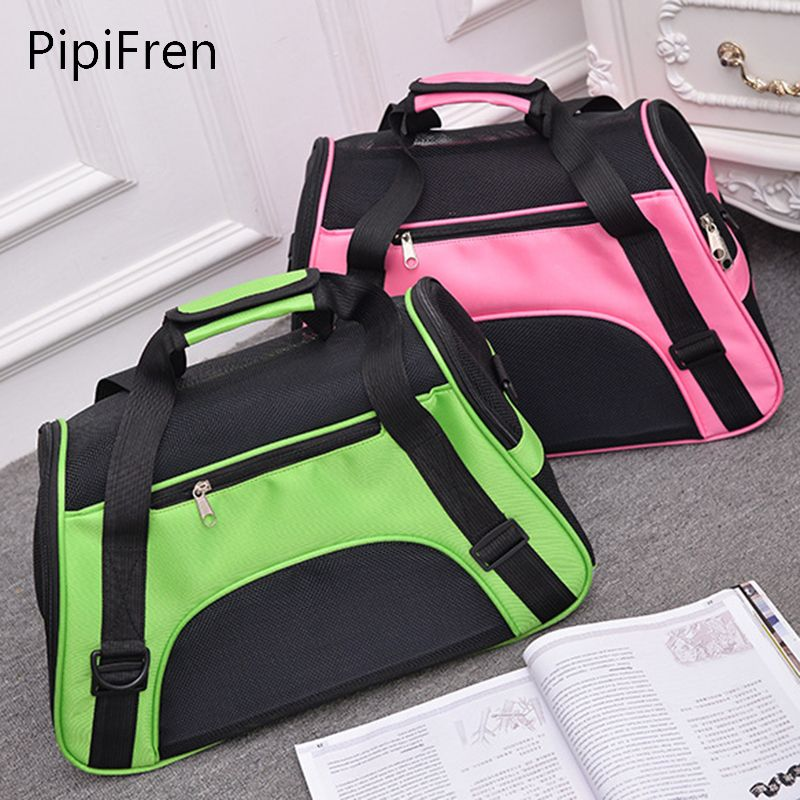 PipiFren Carrying Bags For Dogs Small Pet Carrier Bag Backpack Cats Carriers Crate Travel sac de transport chien chat honden tas