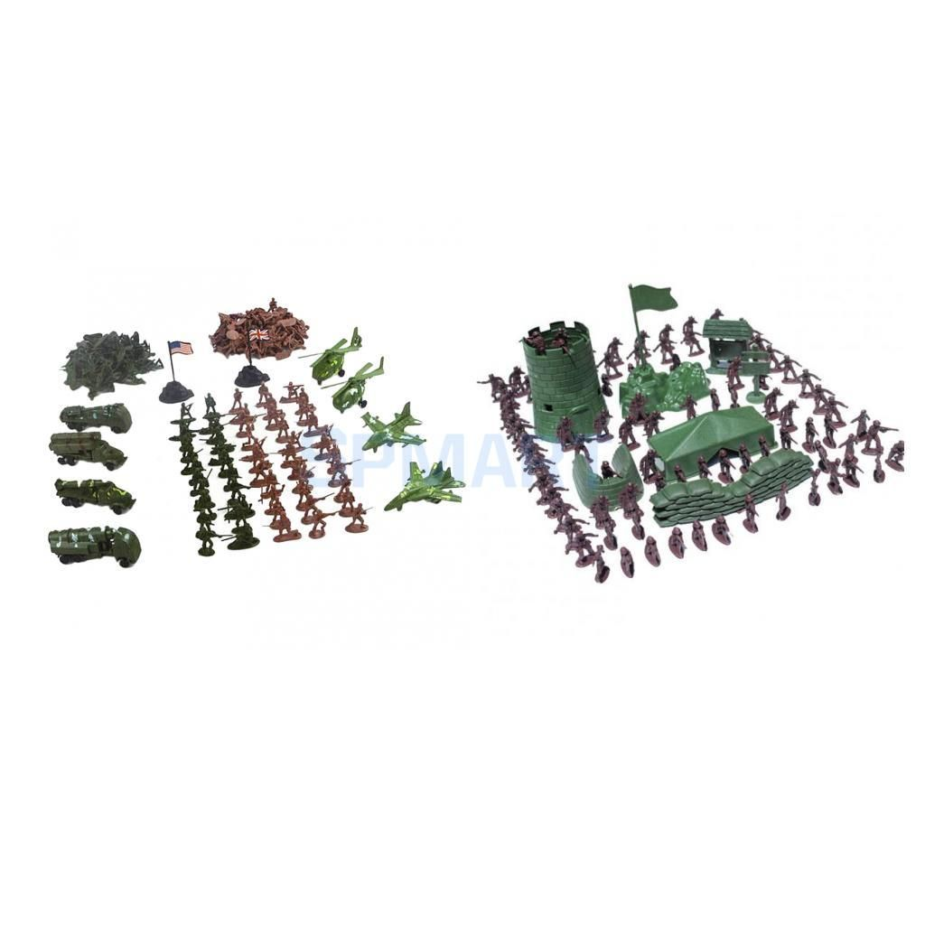 310pcs/Lot Army Combat Toys Soldier Model Action Figure with Aircraft Scene