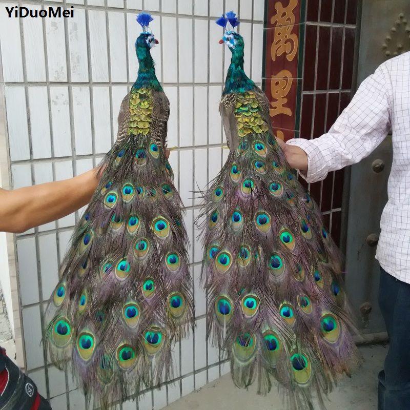 Große 80cm liebhaber pfauen vogel ein los/2 stück federn pfau modell handwerk, prop, home garten dekoration geschenk p2100