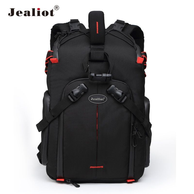 Jealiot Professional slr Backpack for Camera Bag laptop Video Photo lens digital camera bag photography waterproof for Canon 50d