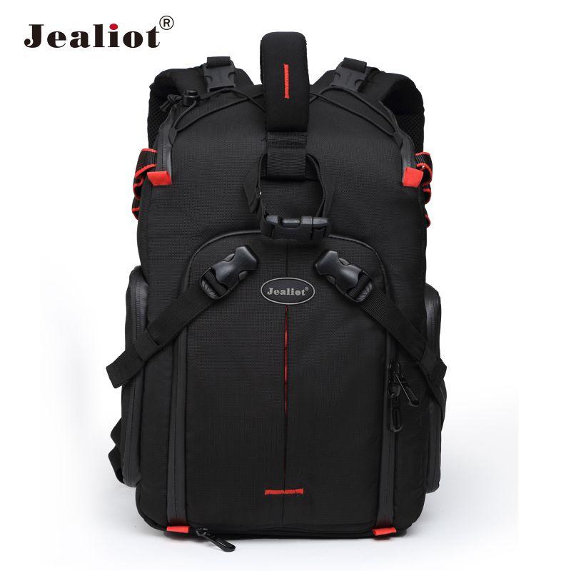 Jealiot SLR caméra sac à dos pour appareil photo objectif sac ordinateur portable vidéo étui numérique photographie trépied étanche sac pour Canon 50D
