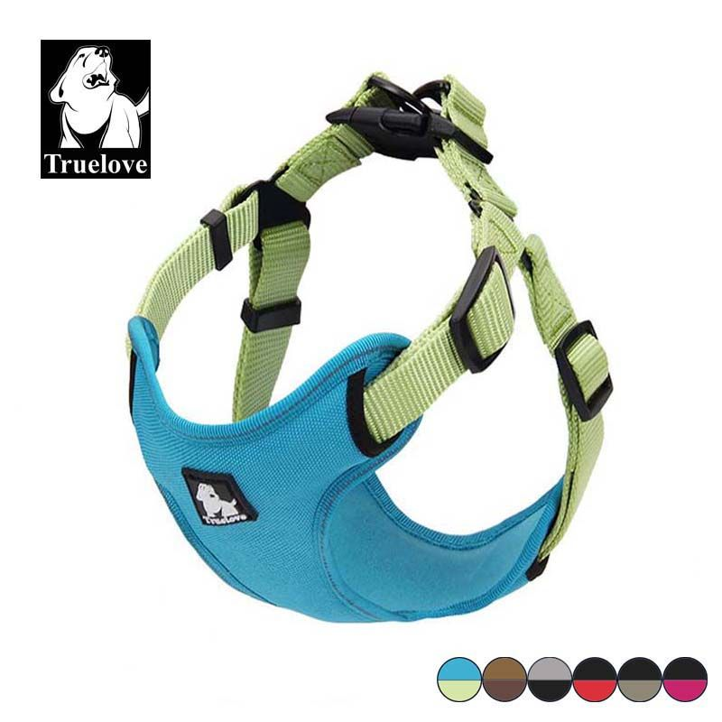 Truelove Padded Reflective Dog Harness Vest Pet Dog Step In Harness Adjustable No <font><b>Pulling</b></font> Pet Harnesses For All Dog Breed Hot
