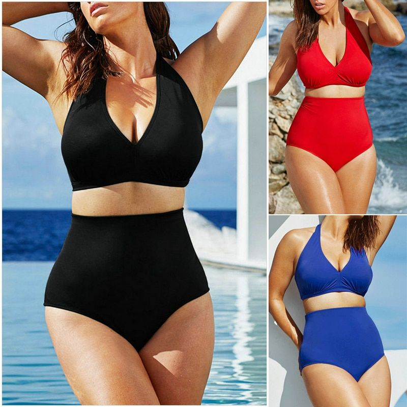 2017 nouveau bikini Sexy femmes grande taille maillots de bain taille haute Bikini push up maillot de bain bikini ensemble grande taille maillots de bain XXXL