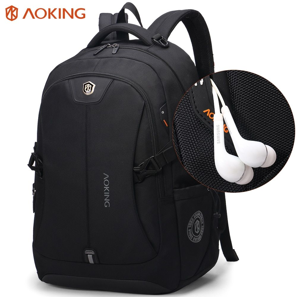 Aoking Fashion Men Backpack Waterproof Travel Bags Men's Polyester Comfort Three Sizes Backpacks Computer Laptop Packsack