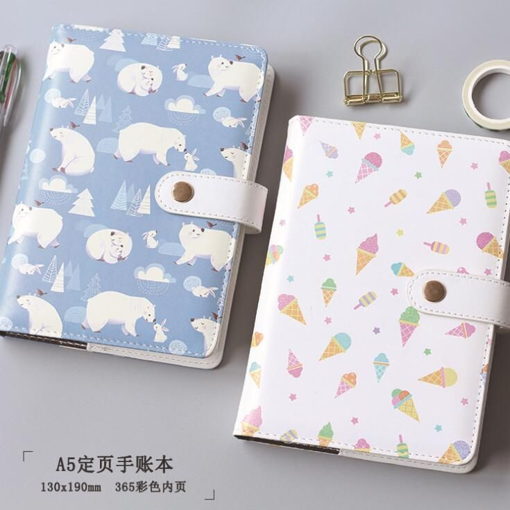 A5 Colorful Polar Bear Ice Cream Hardcover Notebook Diary Pocket Notepad Promotional Gift Stationery
