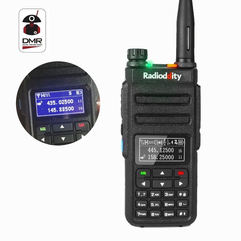 Radioddity GD-77BB Dual Band Dual Time Slot DMR Digital Radios Inverted Display HamTwo Way Radio Walkie Talkie