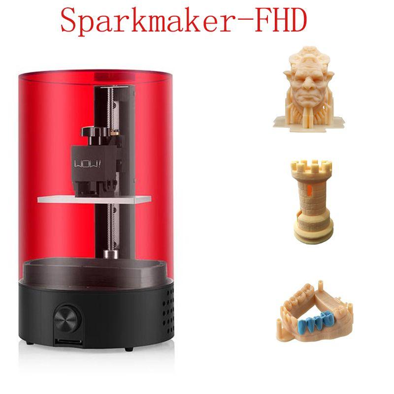 Sparkmaker Drucker 3d Teile Neueste FHD Harz 3d Drucker Hohe Presicion Druck Jewerly App Control 25mm/hr LCD /SLA 3d Drucker Kit