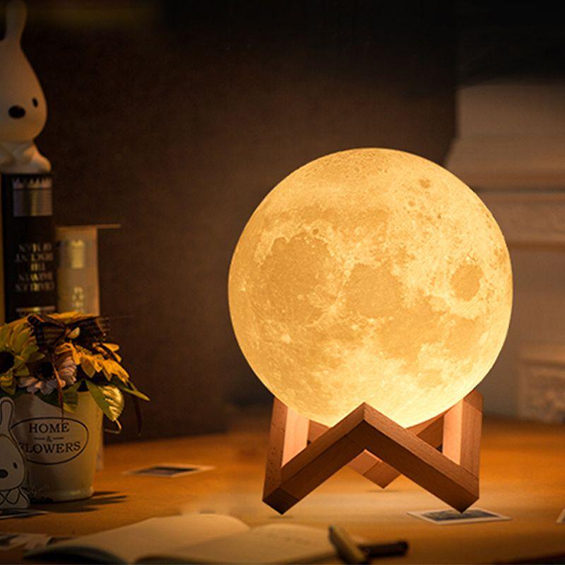 Livraison directe 3D Impression lampe de lune 20 cm 18 cm 15 cm Coloré Changement Tactile USB led Nuit décoration lumineuse pour la maison Creative Cadeau