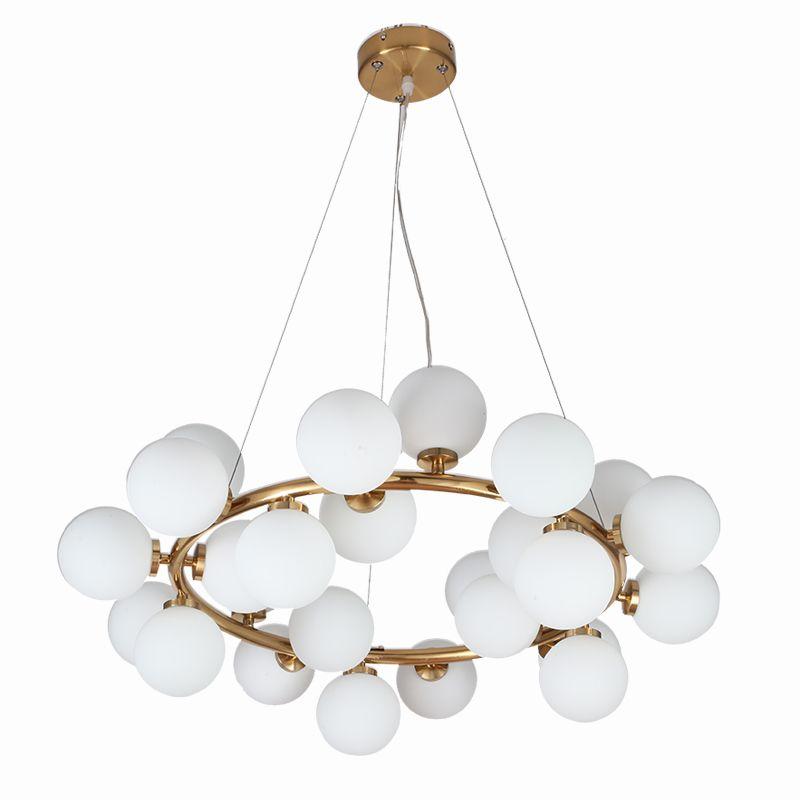 Wongshi Moderne Gold 25/32/45/46 Heads Magic Bean Glas G4 Anhänger Lampe DNA Molekulare Glas ball Anhänger Licht