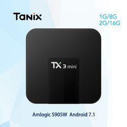 Tanix TX3 Mini Android 7.1 TV BOX 2 GB 16 GB Amlogic S905W Quad Core Smart TV Box 4 K HDMI 2.4 GHz WiFi Media Player PK X92 X96
