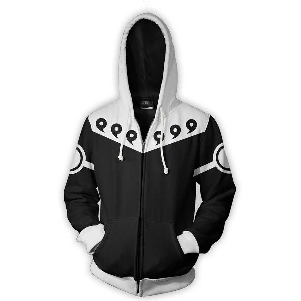 Casual Japanese Anime Naruto Hoodie Hoodies 3D Zipper Sweatshirt Man Oversized Sweatshirts Men Sweat Homme Clothing Drop Ship