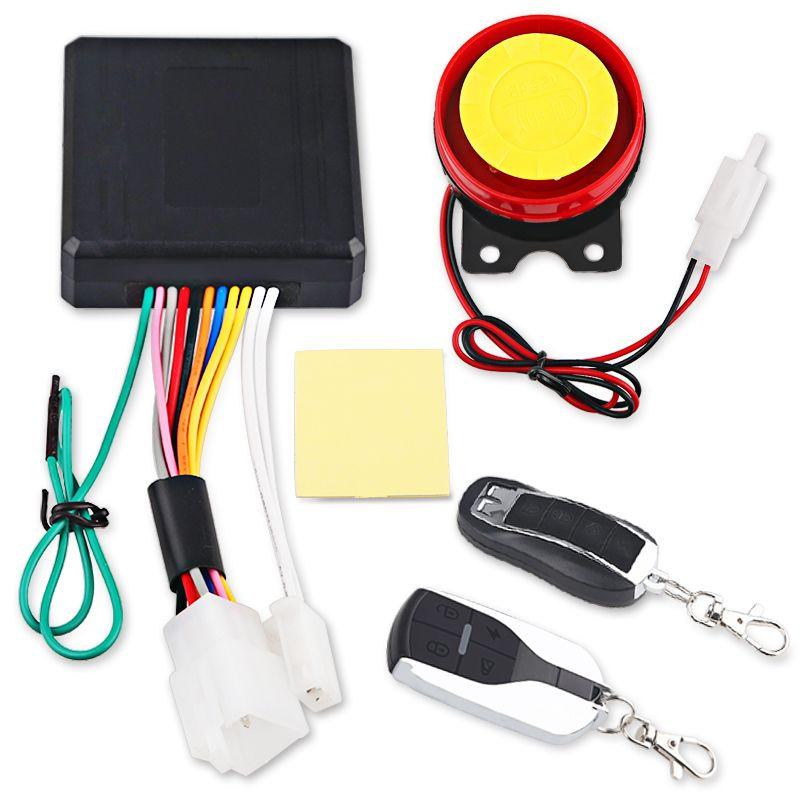 Universal Motorcycle Bike Alarm System Scooter Anti-theft Security Alarm System Remote Control <font><b>Engine</b></font> Start+Alarme Moto Speaker