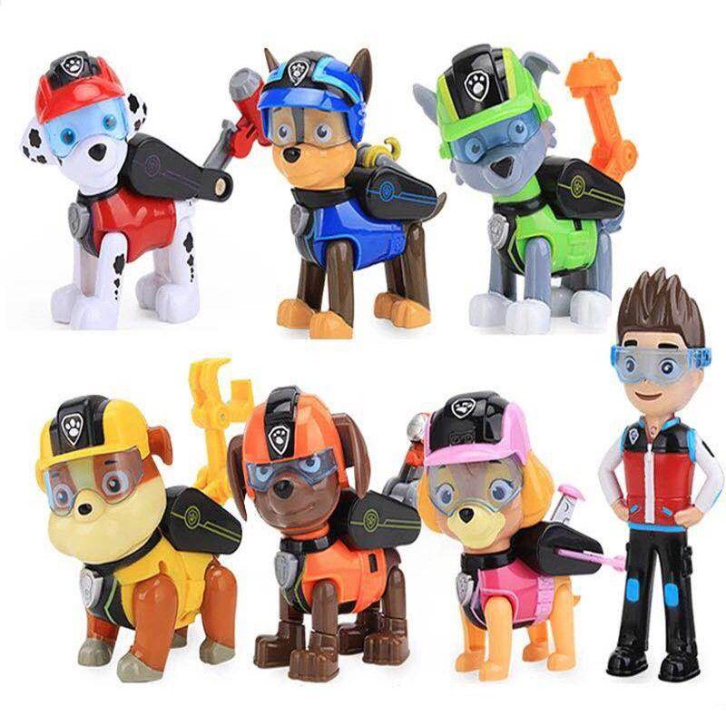 7 pièces/ensemble patte patrouille chien chiot Anime Figure Patrulla Canina figurine modèle enfants jouets enfants cadeaux