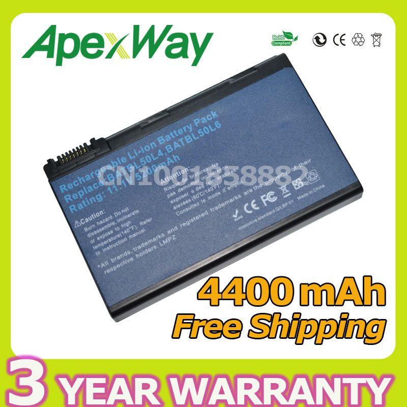 Apexway 4400mAh battery for Acer BATBL50L6 BATBL50L8H for Aspire 3100 5110 5680 2490 5630 5100 5610 5650 3690 Series