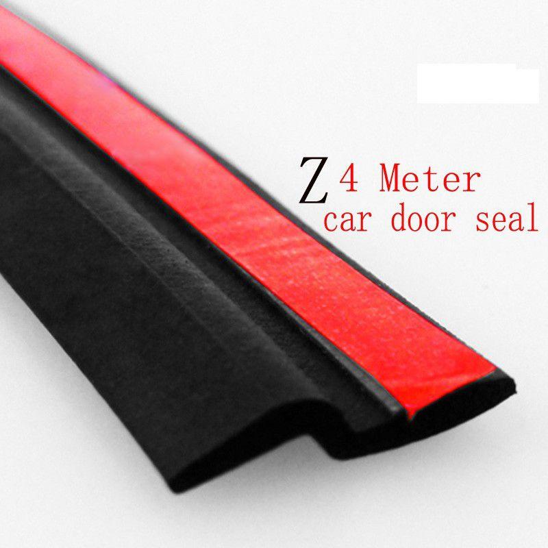 4 M Z Type joint en caoutchouc adhésif isolation phonique bande d'étanchéité de porte de voiture joints d'étanchéité étanche garniture Auto accessoires