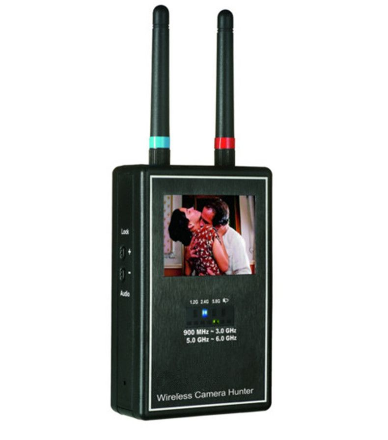 Mini Wireless Camera Hunter Full Band Video  Scanner Image Display Multi Wireless Camera Lens Detector Full-range Anti-Candid