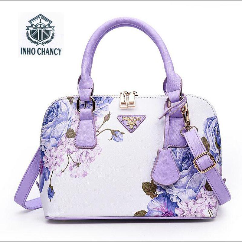 Printed Luxury leather shell package 2017 new women handbag Famous brands designer shoulder <font><b>Messenger</b></font> bag