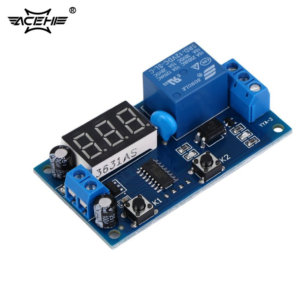 ACEHE Electrical DC 12V Time Relay Module Digital Display Trigger Cycle Time Delay Relay Module Board YYA-3 Dropshipping
