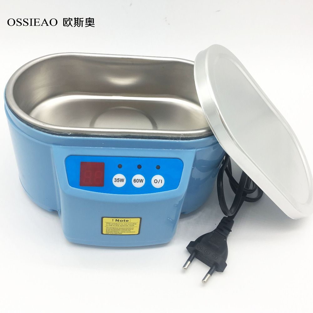OSSIEAO Hot 35W/60W 220V Mini Ultrasonic Cleaner Bath For Cleanning Jewelry Watch Glasses Circuit Board limpiador ultrasonico EU