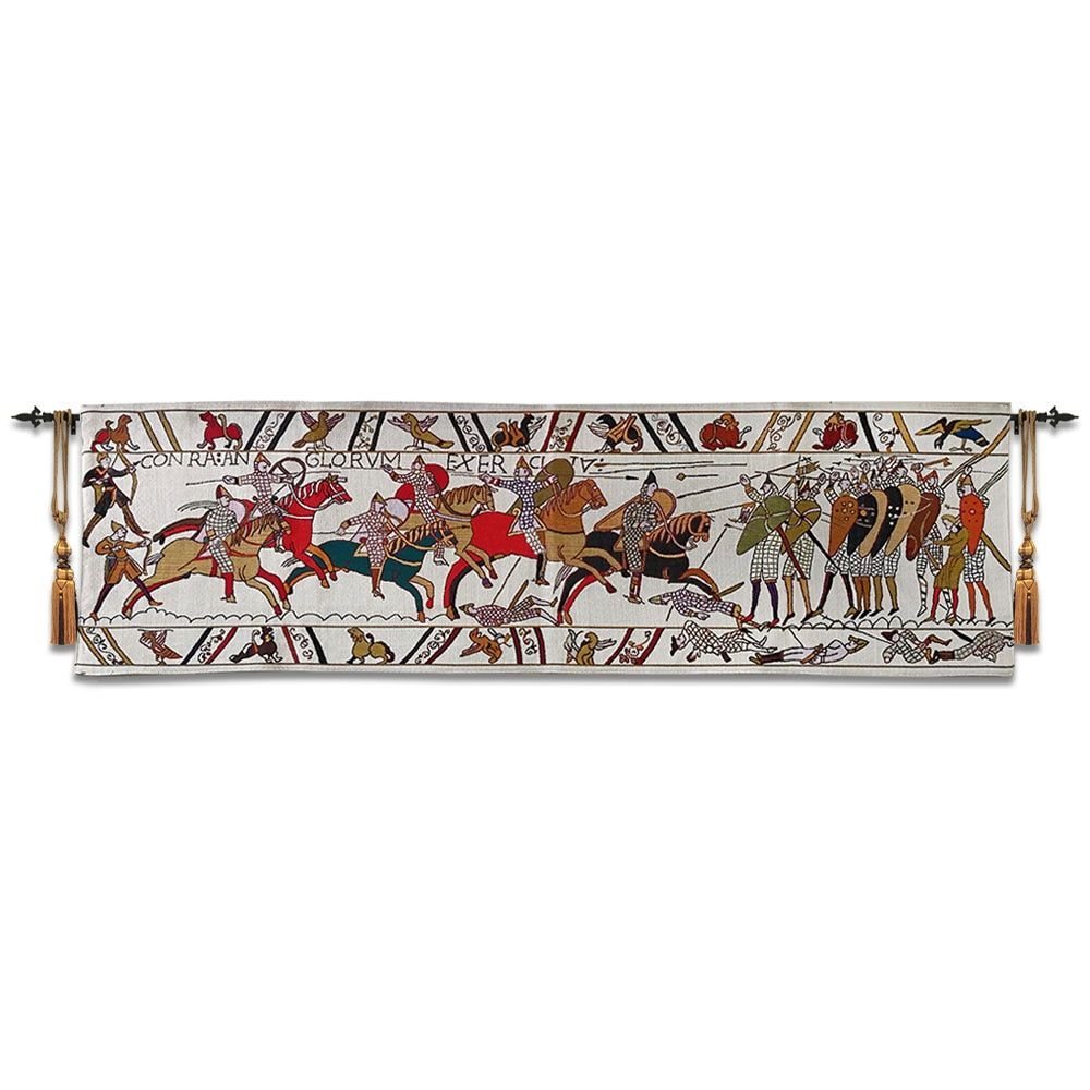 45x138cm Belgian 100% cotton tapestry European medieval culture tapestries Bayeux tapestry British wind tapestry painting ST-55