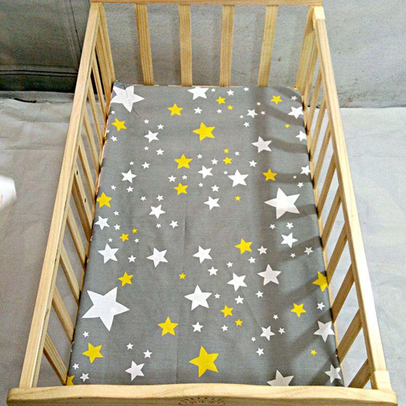 Бесплатная доставка muslinlife хлопок ребенка установлены Простыни мультфильм кроватки Матрас протектор, детская кровать лист для кроватки Раз...