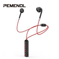 Sport Nirkabel Bluetooth Earphone Headphone HD Stereo dengan MIC Bluetooth Di Telinga Headset BT313 Magnetic Earbud untuk Xiaomi Mi9