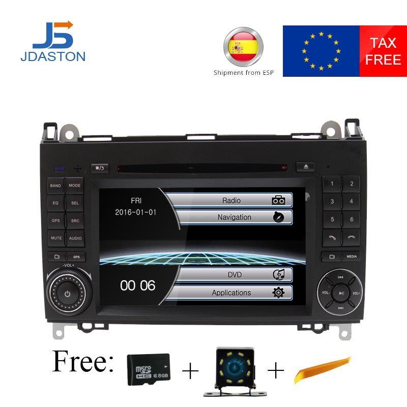 JDASTON 2 Din Auto Radio Auto DVD GPS Head unit für Mercedes Benz B200 B Klasse W169 W245 Viano Vito w639 Sprinter W906 Bluetooth