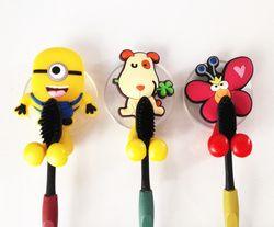 Cute minion Hello Kitty Cartoon ventosa cepillo de dientes titular ganchos accesorios de baño conjunto ecológico