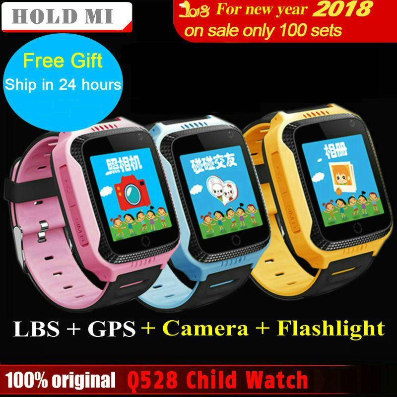 Hold Mi Q528 Y21 Touch Screen Kids GPS Watch with Camera Lighting Smart Watch Sleep <font><b>Monitor</b></font> GPS SOS Baby Watch PK Q60