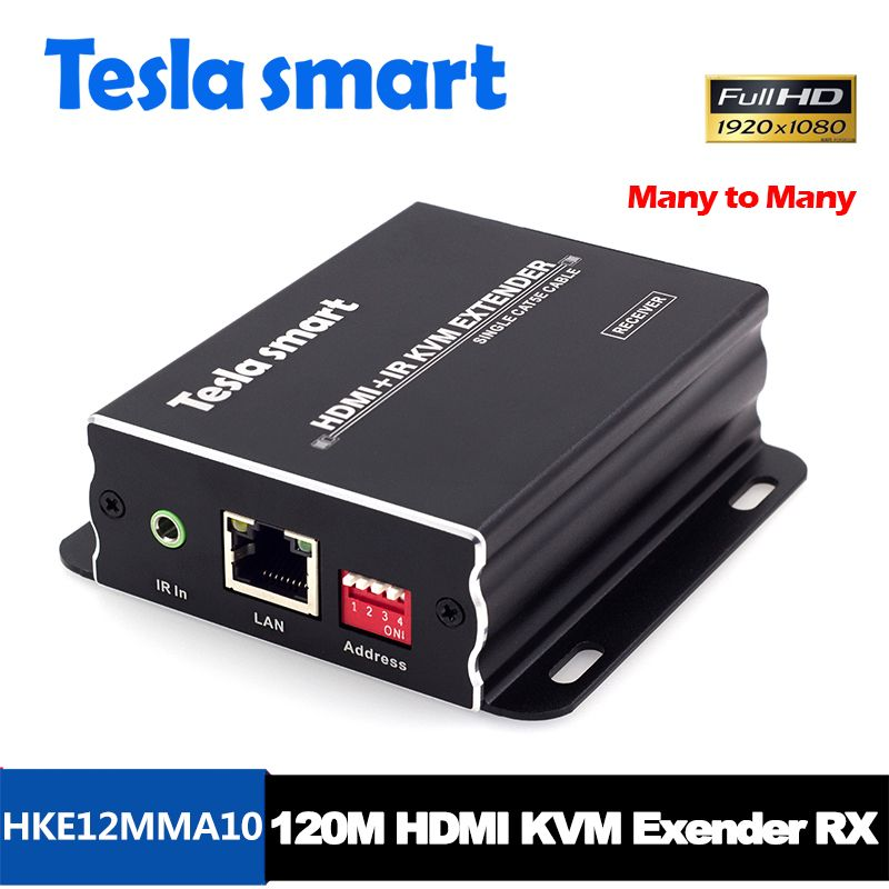 Tesla smart Viele, viele IP Netzwerk KVM Extender High Quality 120 mt USB HDMI IR KVM Extender durch CAT5e/6 TCP/(nur Empfänger)