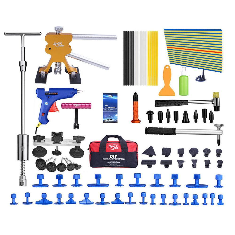PDR Tools Dent Removal Car Dent Repair Tool Set Reflector Board Slide Hammer Glue Tabs Fungi Suction Cups For Dent