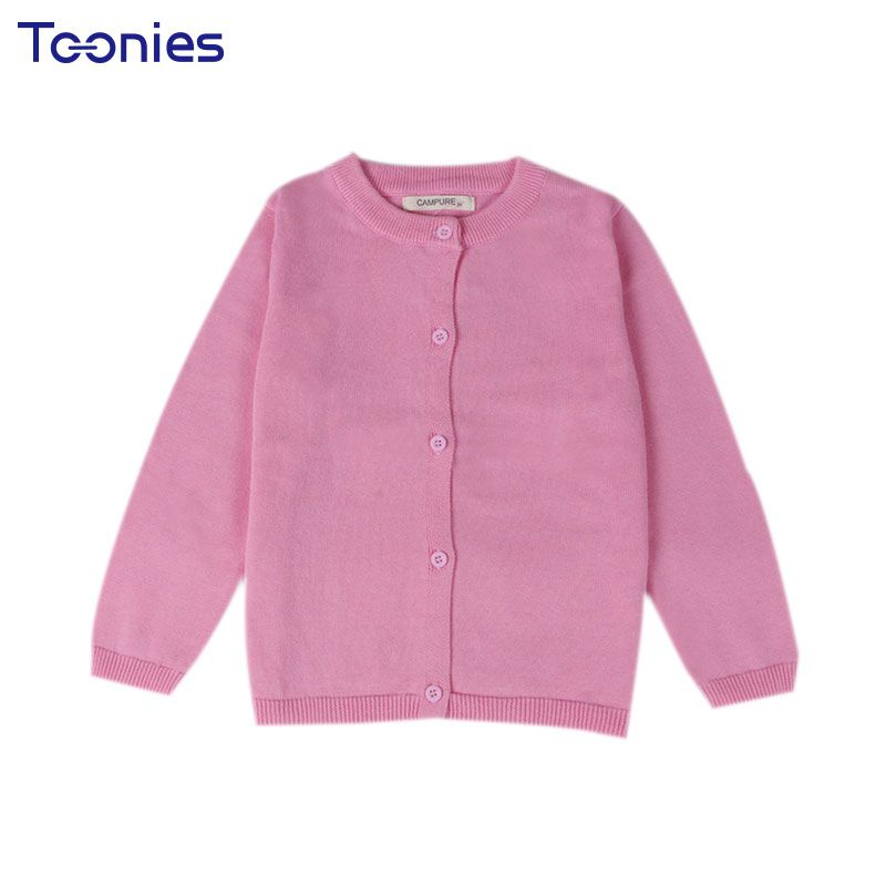 2018 10 Color New Baby Children Clothing Boys Girls Candy Color Knitted Cardigan Sweater Kids Spring Autumn Cotton Outer Wear