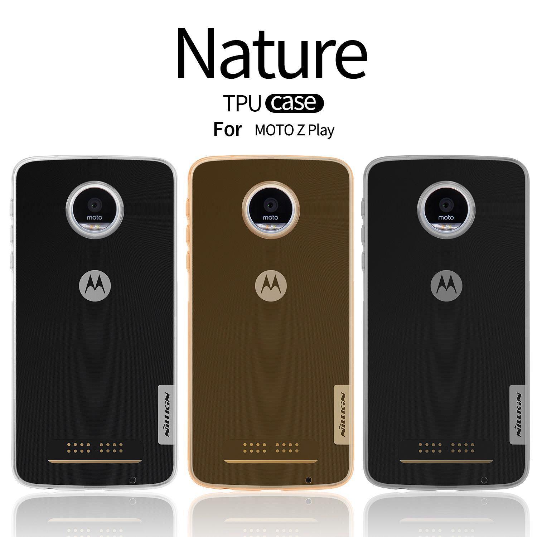 NILLKIN Ultra Mince Slim TPU Cas Pour Motorola MOTO Z Jouer XT1635 Hight Qualité Souple COQUE Arrière en TPU Pour Motorola MOTO Z jouer